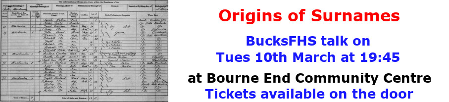 BucksFHS-Origins of Surnames