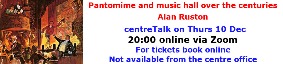 centreTalks - Panto and Music Hall - Dec 2020