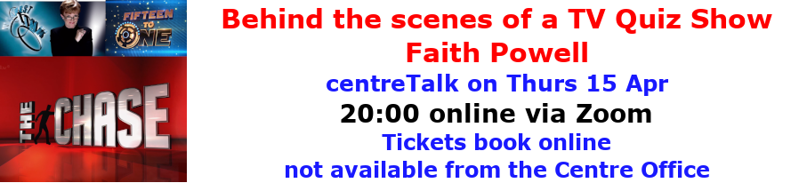 centreTalks - Behind the scenes of a TV Quiz Show - Apr 2021
