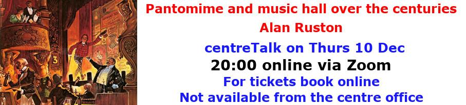 centreTalks - Panto and Music Hall - Dec 2020