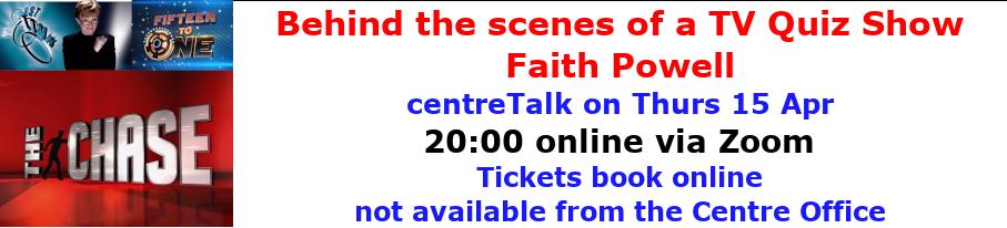 centreTalks - Behind the scenes of a TV Quiz Show - Apr 2021