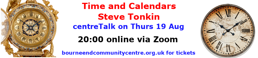 centreTalks - Time and Calendars - Aug 2021